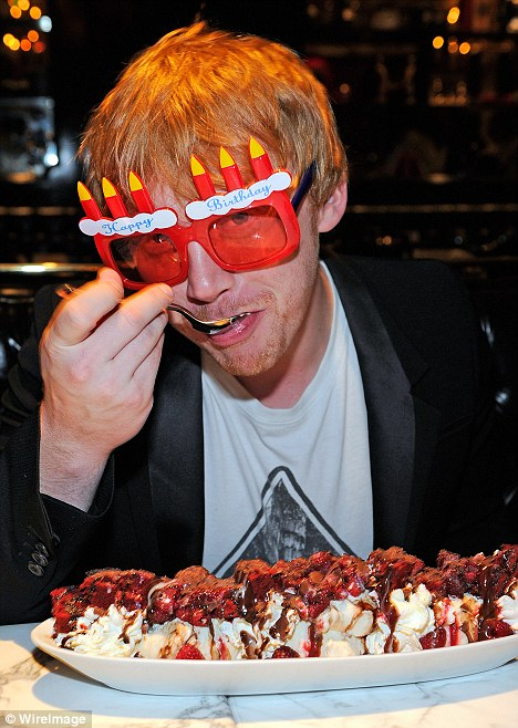 Rupert Grint Celebrates 23rd In Las Vegas With Giant Cake