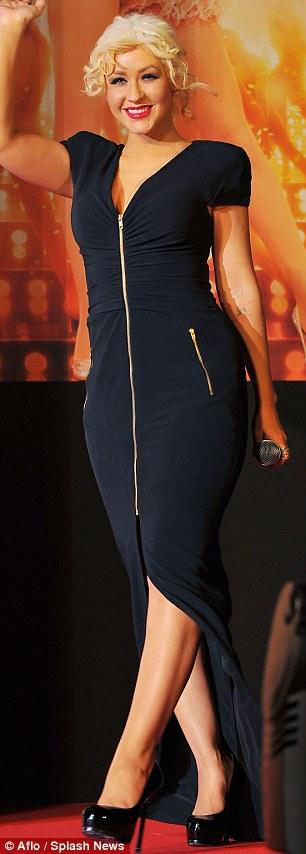 Christina Aguilera Black Hair