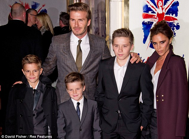 David Beckham reveals that he takes charge of his family's ...