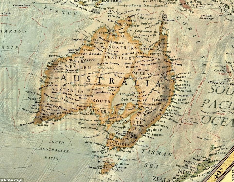 World map australia Would YOU be underwater if the polar caps melted Map reveals what