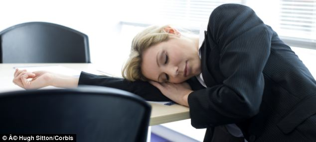 Asleep Person Desk Their Drooling