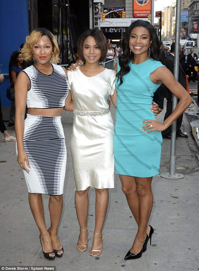 Meagan Good Wows In Optical Illusion Dress On Gma To