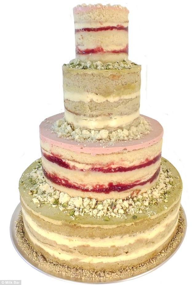 Three Layer Strawberry Cake