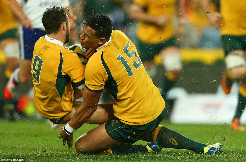 Bloody start to Bledisloe after Israel Folau collides with ...