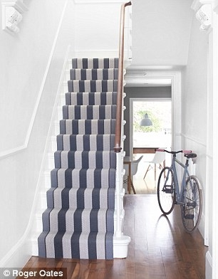 Winning Runners And Wildly Colourful Rugs Will Bring Warmth And   Carpet For Stairs And Hallway   Hardwood   Stylish   Upstairs   Popular   Hollywood Style