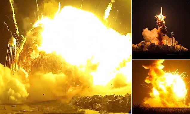 Nasa S Antares Rocket Explosion Up Close In Amazing New