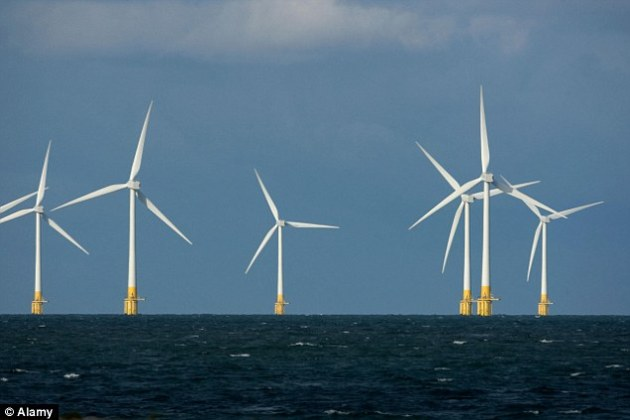 How wind turbines take power from National Grid when NOT generating     Off shore wind turbines take power from the National Grid when not  generating electricity