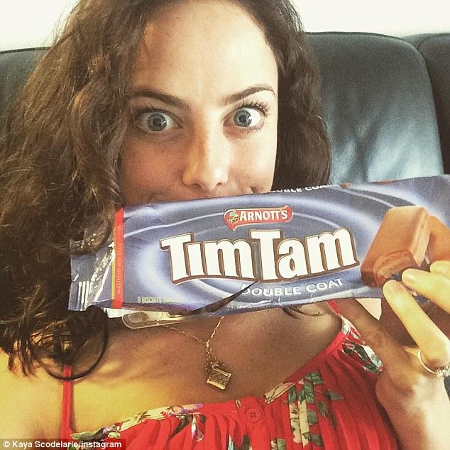 Skins actress Kaya Scodelario enjoys Tim Tams in Australia ...