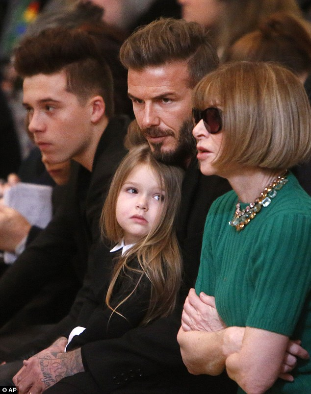 Victoria Beckham's husband David and children show their ...