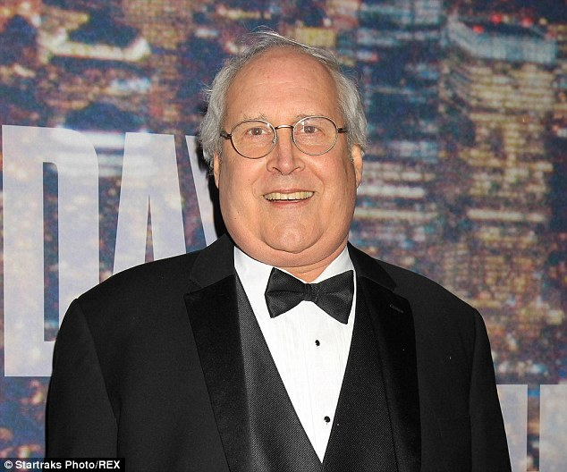 Chevy Chase sweats profusely in bumbling interview for SNL 40     A plump Chevy Chase made a confused and awkward interview while at the 40th  anniversary of