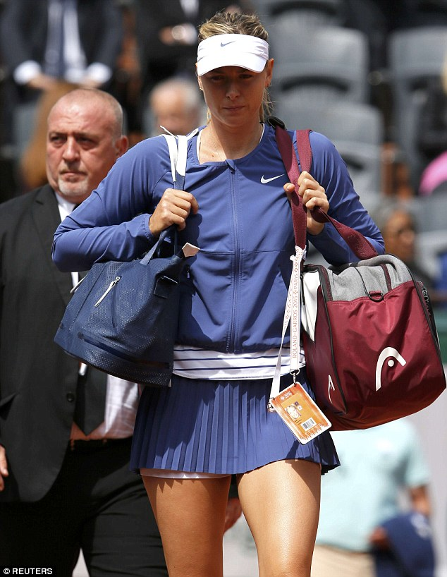 Hold and cold: The match posed an extra challenge for the star as she's been battling a cold this week