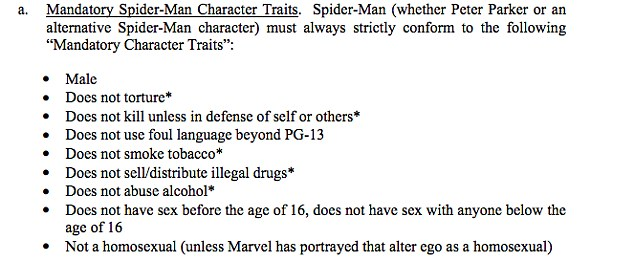 Spider-Man must be a white, straight male, say leaked Sony ...