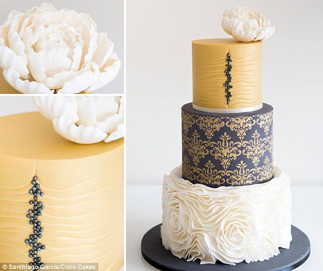 Wedding cake trends for 2015 include even light up masterpieces     Big and bold  2015 wedding cake trends are all about cakes that are brighly  coloured