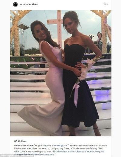Eva Longoria loves dream wedding gown designed by Victoria ...