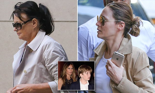Donald Trump's wife Melania steps out with her mom in no ...
