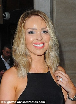 Katie Piper unveils shorter new blonde 'do at London ...
