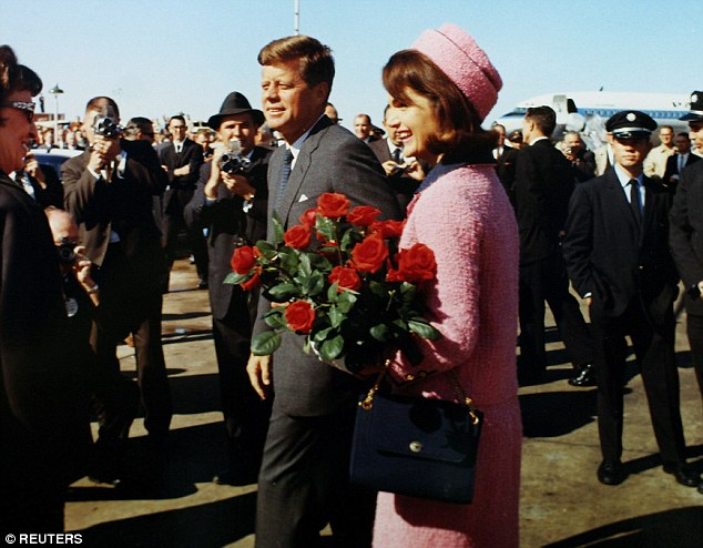 Secret diaries of a Cold War spy claim Cuban agent shot John F     President John F  Kennedy and first lady Jacqueline Bouvier Kennedy arrive  at Love Field in