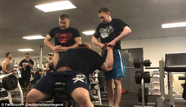 Eddie Hall Lifts Two Grown Men In The Stoke On Trent Gym