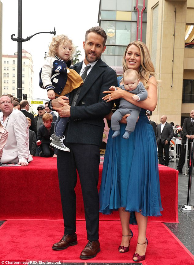 Blake Lively declares love for children with Ryan Reynolds ...