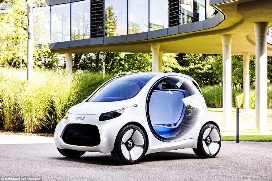 Self driving electric Smart car announced   Daily Mail Online Daimler has announced its self driving electric Smart car  pictured    geared toward