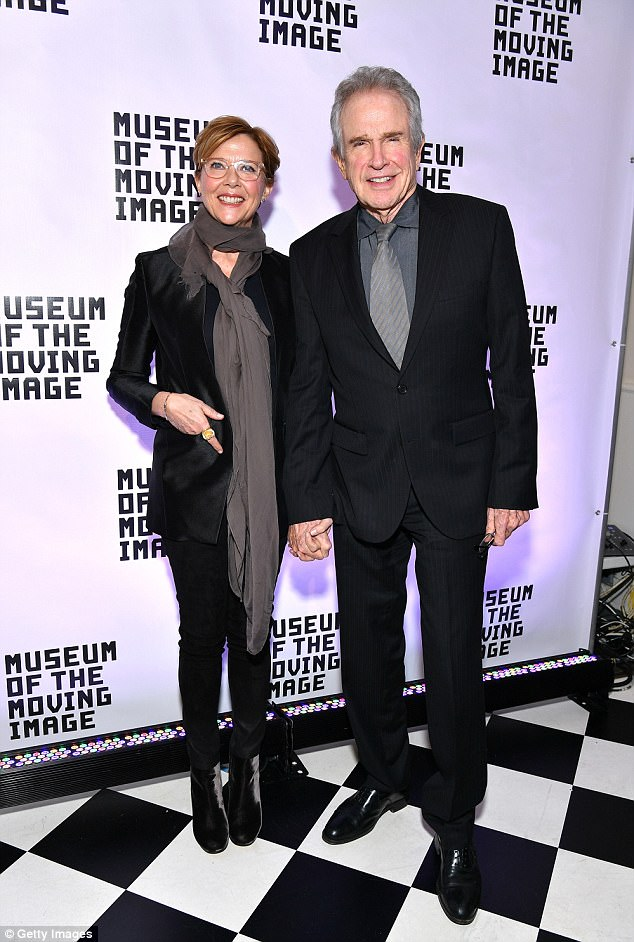 Annette Bening with Warren Beatty as she's honored in NYC ...
