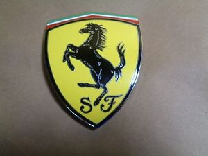 Ferrari-550-575-Front-Fender-Shield-Side-Badge-Part-66503800