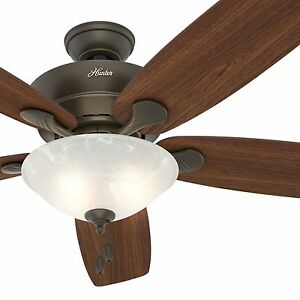 Hunter Ceiling Fan Light Kit   eBay Hunter Fan 60 in  New Bronze Ceiling Fan with Swirled Marble Light Kit