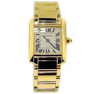 Cartier Gold Tank Watch   eBay Womens Gold Cartier Tank Watch
