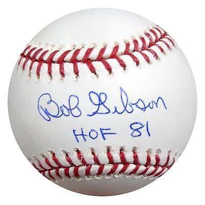 Bob Gibson Signed Baseball Psa Ebay