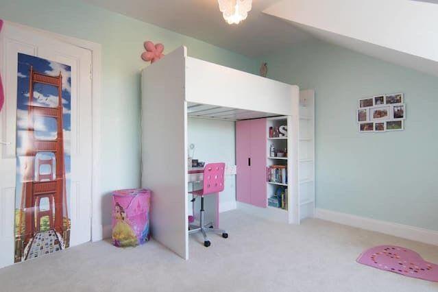 Ikea Stuva Children S Loft Bed Pink White In Southside