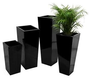 Tall Planter  Pots  Window Boxes  Baskets   eBay Tall Black Planter