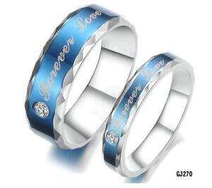 His and Hers Wedding Bands   eBay His and Hers Titanium Wedding Bands