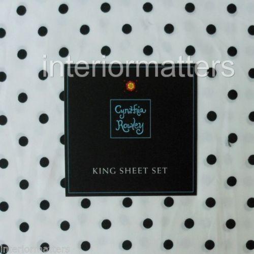 Black And White Polka Dot Sheets Ebay