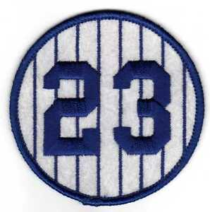 DON MATTINGLY YANKEES RETIRED 1984 JERSEY NUMBER 23 PATCH ...