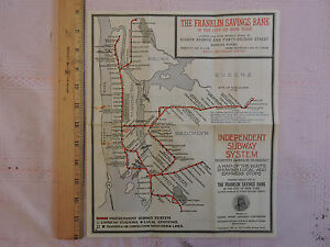 RARE 1937 New York City Subway Map NYC   IND   IND   1933 Brooklyn     Image is loading RARE 1937 New York City Subway Map NYC