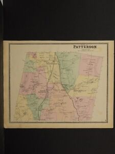 New York  Putnam County Map  1867 Town of Patterson O5 47   eBay Image is loading New York Putnam County Map 1867 Town of