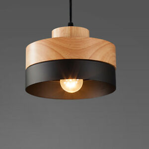Handing Lamp Pendant Light Shade Ceiling Fixture Modern Concise Wood     Image is loading Handing Lamp Pendant Light Shade Ceiling Fixture Modern