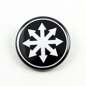 CHAOS Star 1 1/4 Inch Button White/Black - Moorcock GWAR ...