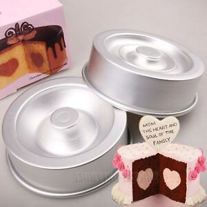 Non-Stick Heart Tasty-Fill Round Layer Cake Pastry Baking ...