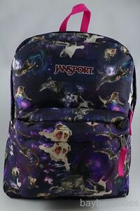 JANSPORT SUPERBREAK MULTI ASTRO KITTY PURPLE/BLUE/PINK ...