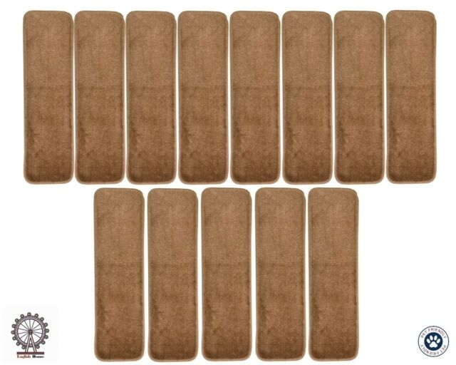 Clever P T Stair Carpet Treads Set Of 13 Indoor Self Adhesive Skid | 8 Inch Carpet Stair Treads | Wooden Stairs | Bullnose Carpet | Skid Resistant | Non Skid | Non Slip Stair
