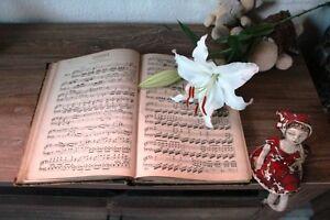 10 sehr alte Notenblätter Notenschrift Basteln Romantik Nostalgie