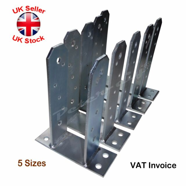 Support Foot Type TT Post Anchor Joist Hanger Galvanized With CE PST     Heavy Duty Galvanised   TT  Type  Post Foot Fence Foot Anchors 5Sizes Thick
