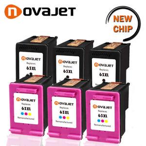 Novajet Lot 63 Xl Ink Cartridge Black Amp Color For Hp