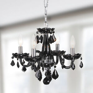 small black crystal chandelier # 25