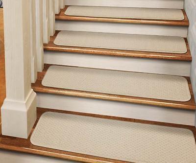 Set Of 15 Dean Skid Resistant Carpet Stair Treads Runner Rugs | Stair Treads And Runners | Non Slip | Mat | Treads Carpet | Bullnose Carpet Runners | Staircase