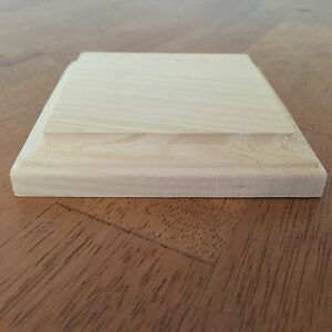 New Natural Unfinished Wood Plaque Wooden Square Base