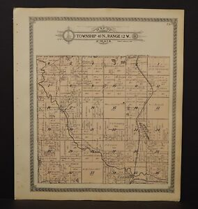 Maps  Atlases   Globes   Antiques Wisconsin Washburn County Map Brooklyn Casey Trego Township 1915 L13 90