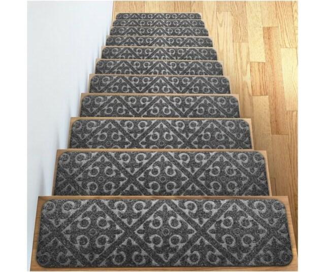 Elogio Carpet Stair Treads Set Of 13 Non Slip Skid Rubber Runner | Carpet Stair Treads For Sale | Bullnose Carpet | Staircase Remodel | Stair Runners | Carpet Runners | True Bullnose