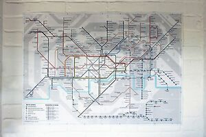 Colour Large Print London Underground Tube Map Poster Brand New 2017     Image is loading Colour Large Print London Underground Tube Map Poster